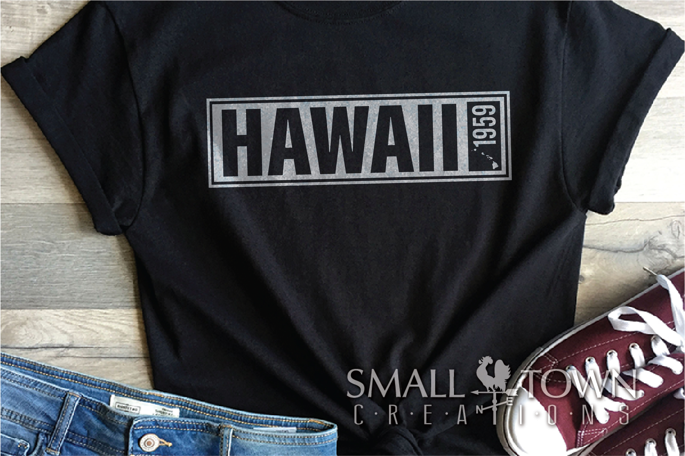 Hawaii, Aloha State - slogan, Logo, PRINT, CUT & DESIGN example image 8