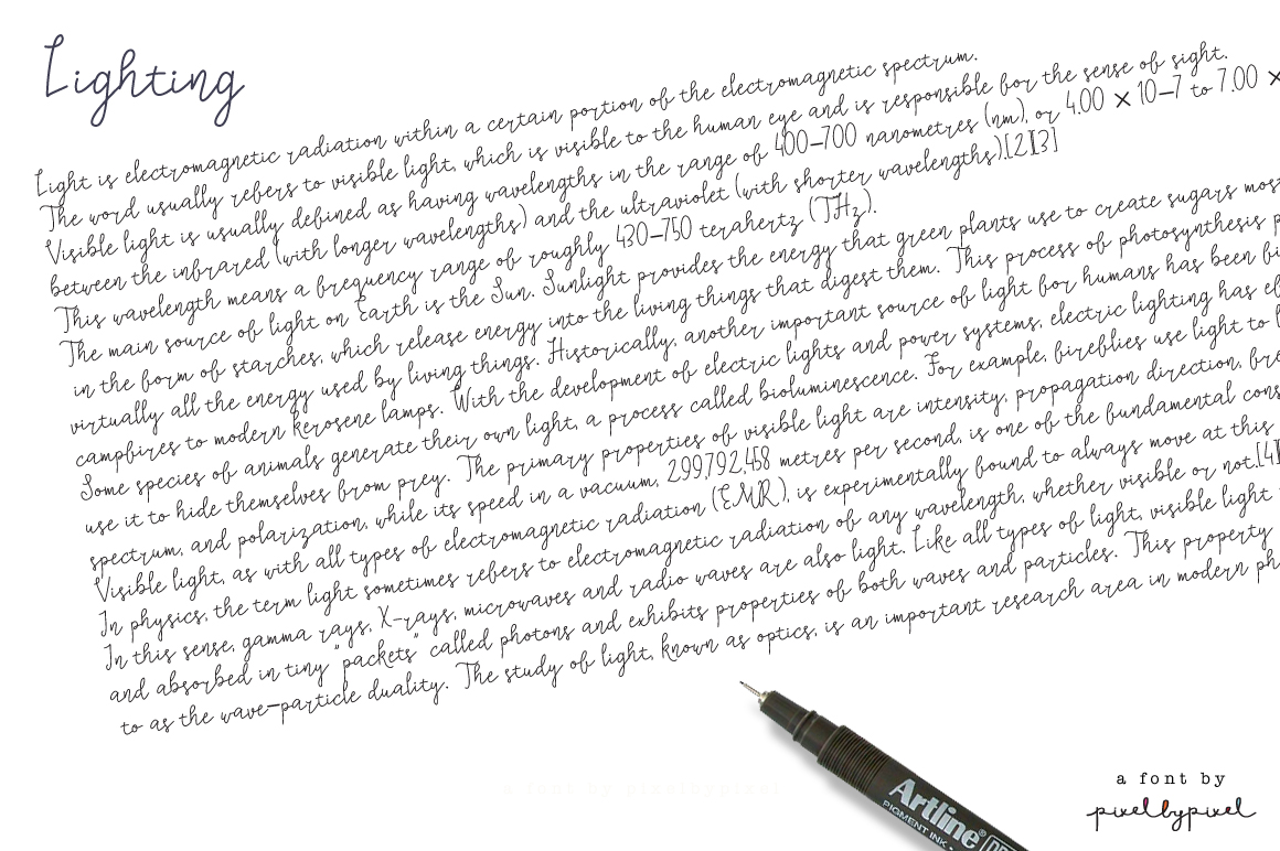 Lighting Script Font example image 2