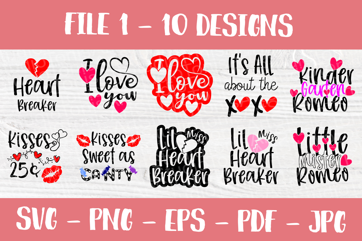Valentine's Day Quotes | Valentines SVG Bundle| SVG Cut File example image 2