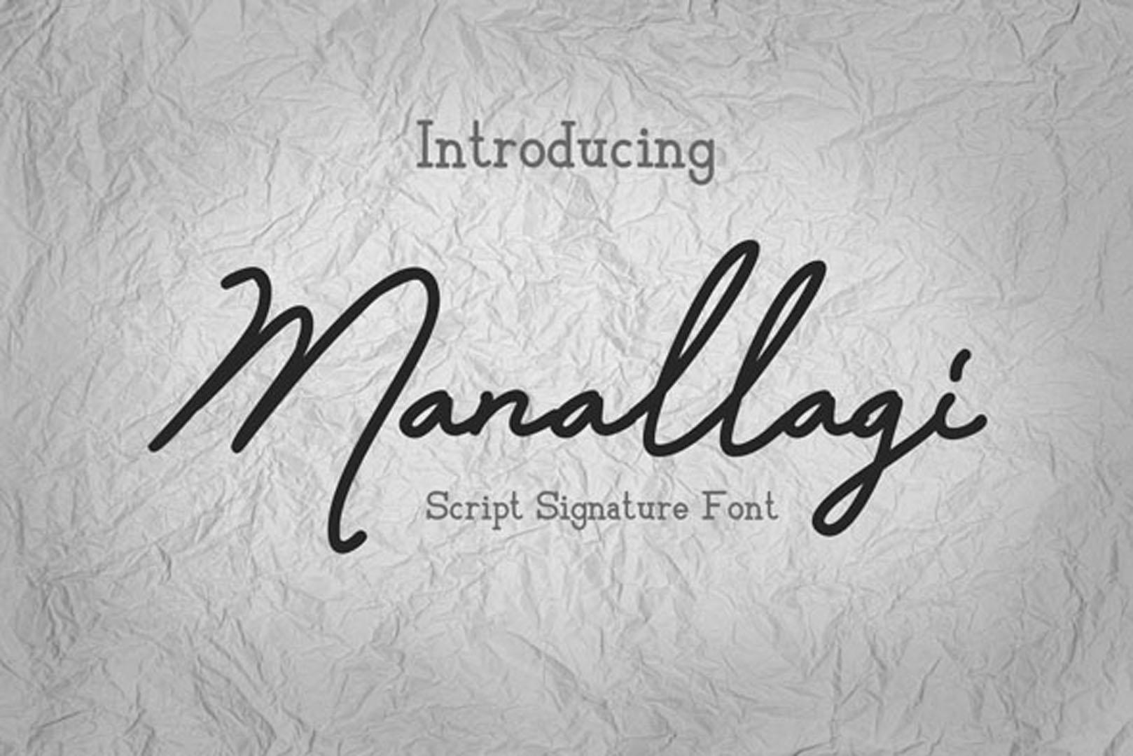 Manallagi - Script Signature Font example image 1