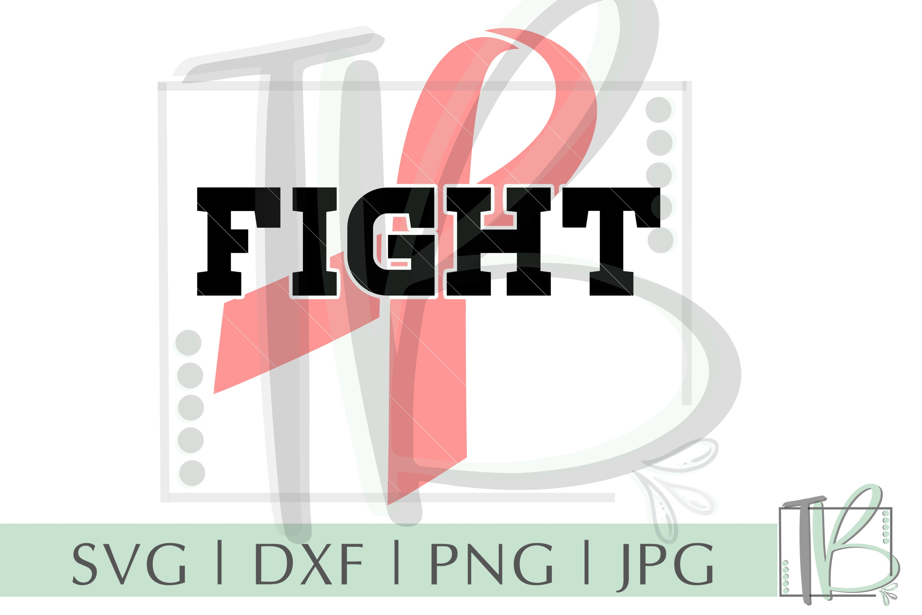Breast Cancer SVG, Fight SVG, Pink Ribbon SVG example image 2