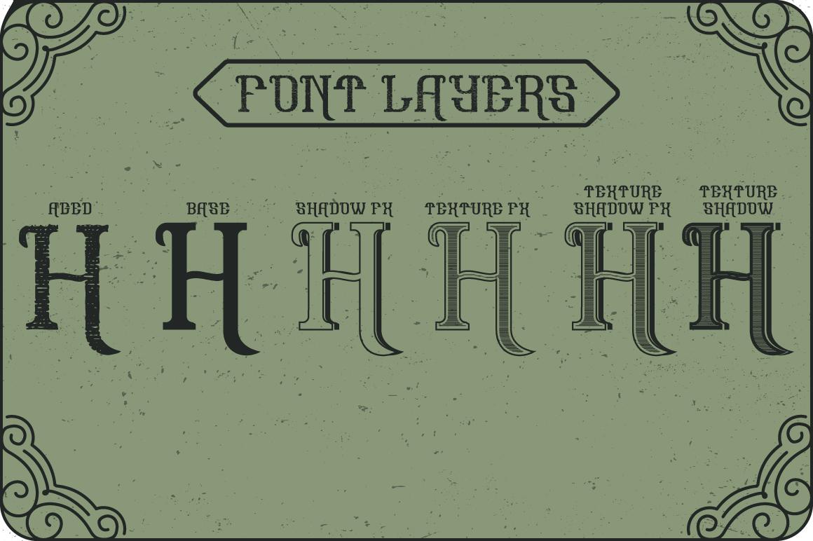 Hoodlum label font example image 3