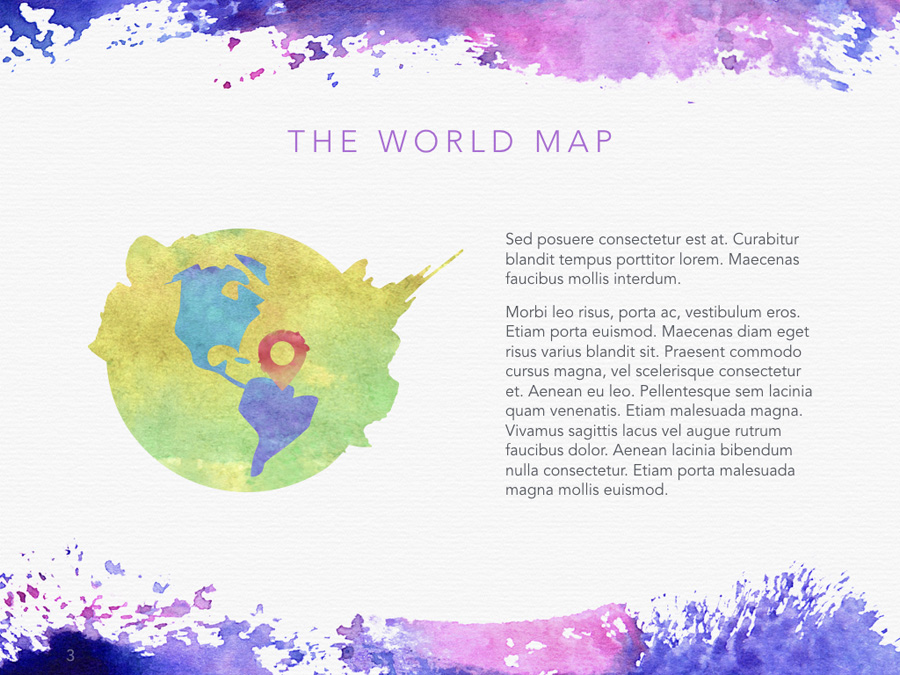 Watercolor PowerPoint Template example image 6