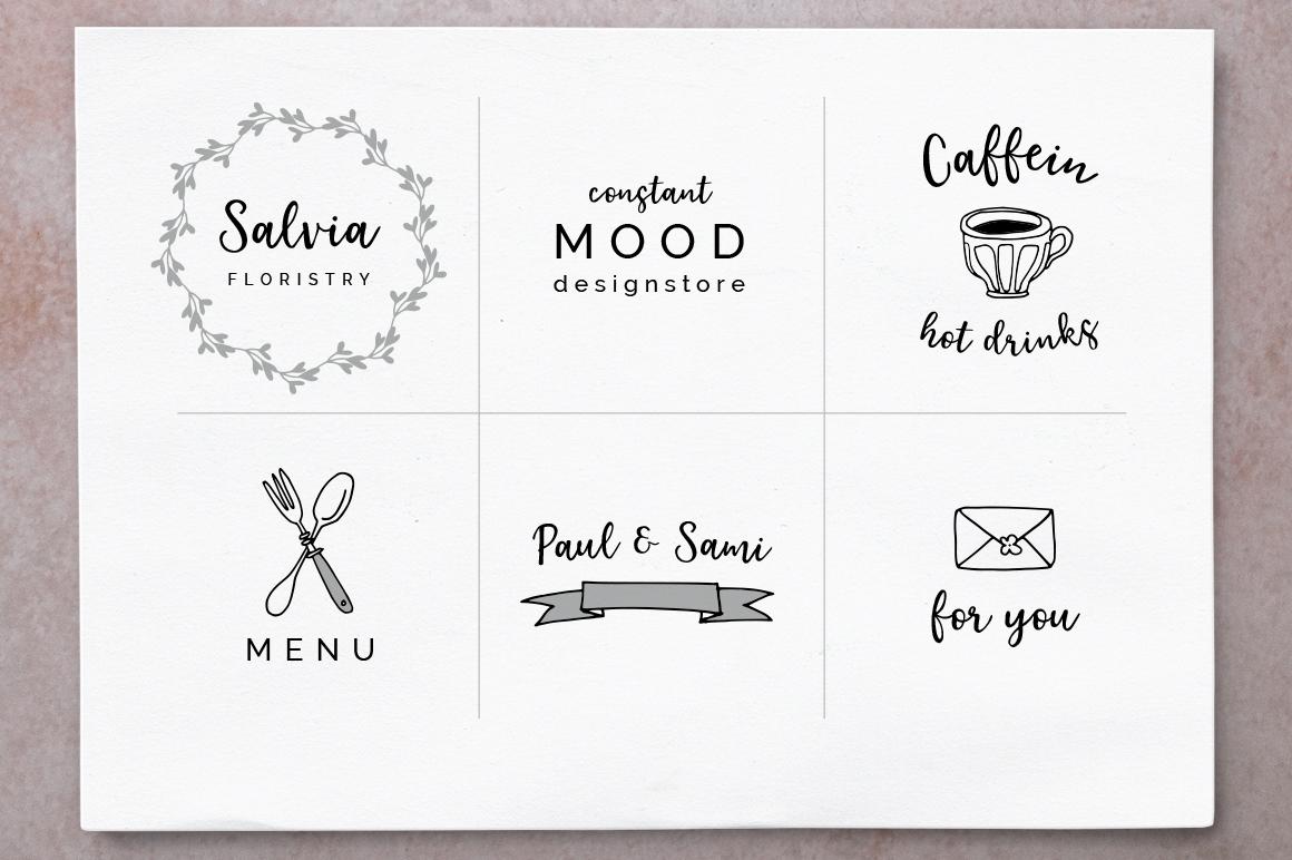 Elderflower script + logos example image 6