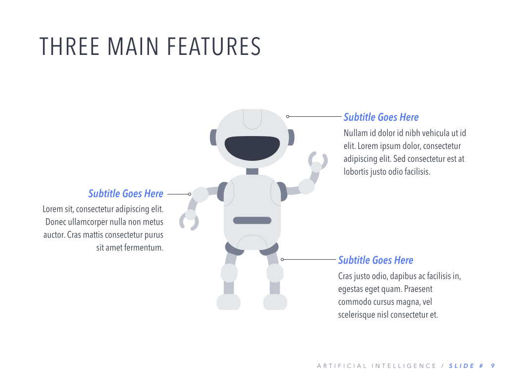 Robot Showcase PowerPoint Template example image 10