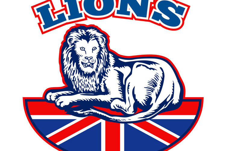 Lion sitting GB British union jack flag example image 1