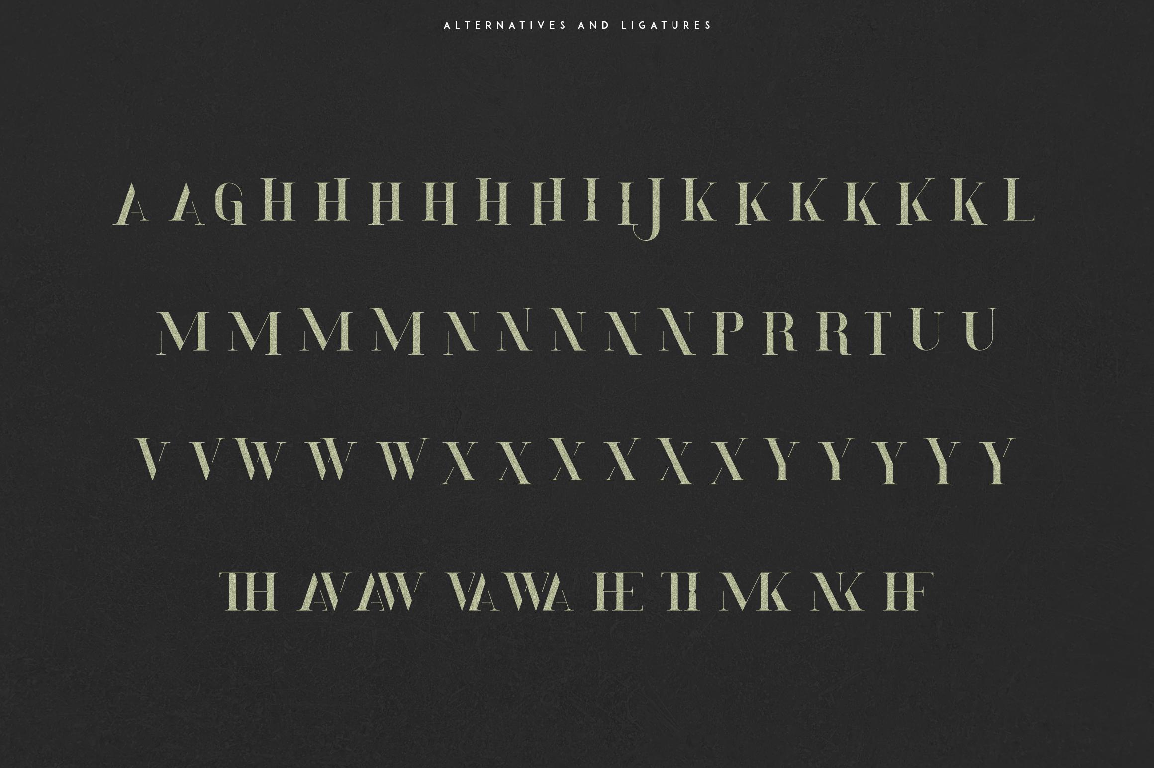 Momentus serif font-Extras example image 9