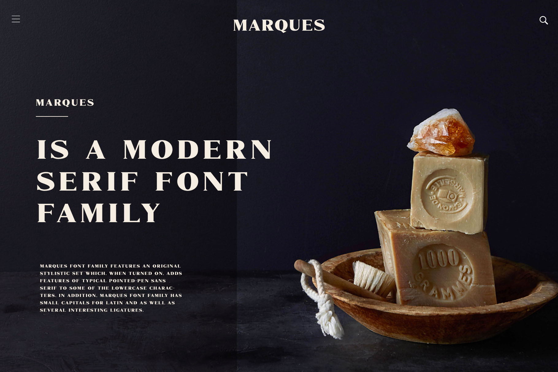 Marques - Modern Serif Font Family example image 2