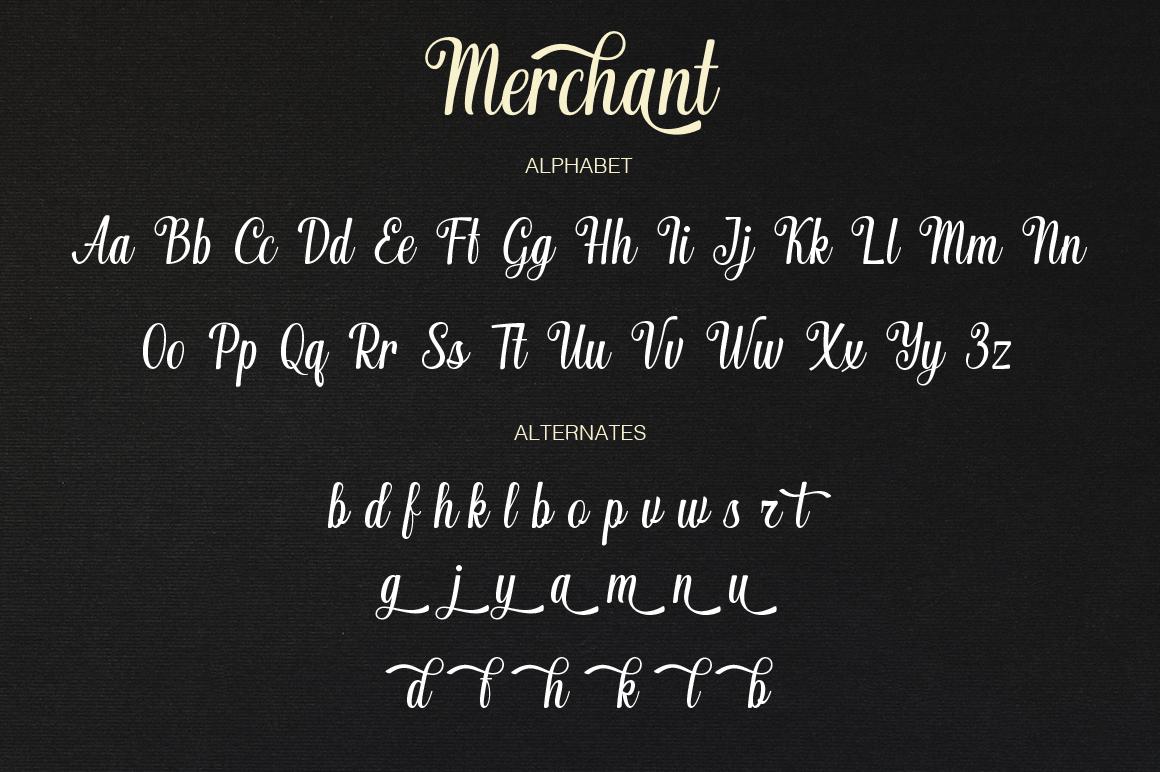 Merchant typeface example image 9