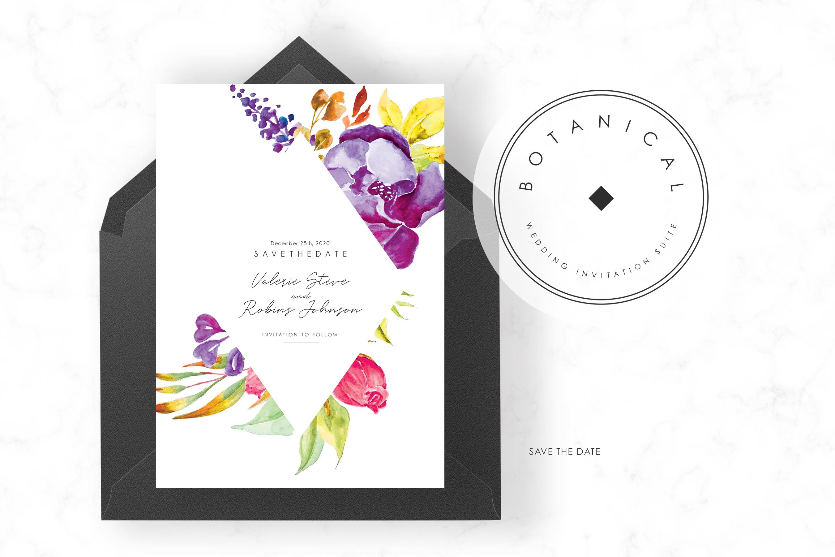 Modern Botanical Wedding Suite example image 4