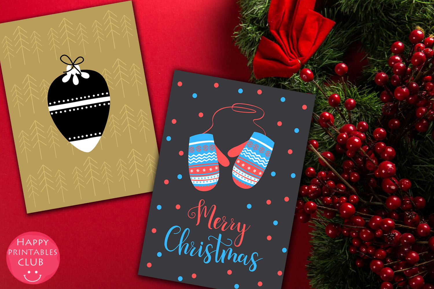 Christmas Cards-Gift Tags-Labels/Holiday Cards Tags Labels example image 2
