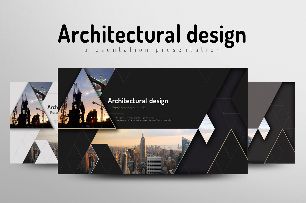 architecture powerpoint templategoo | design bundles, Presentation templates