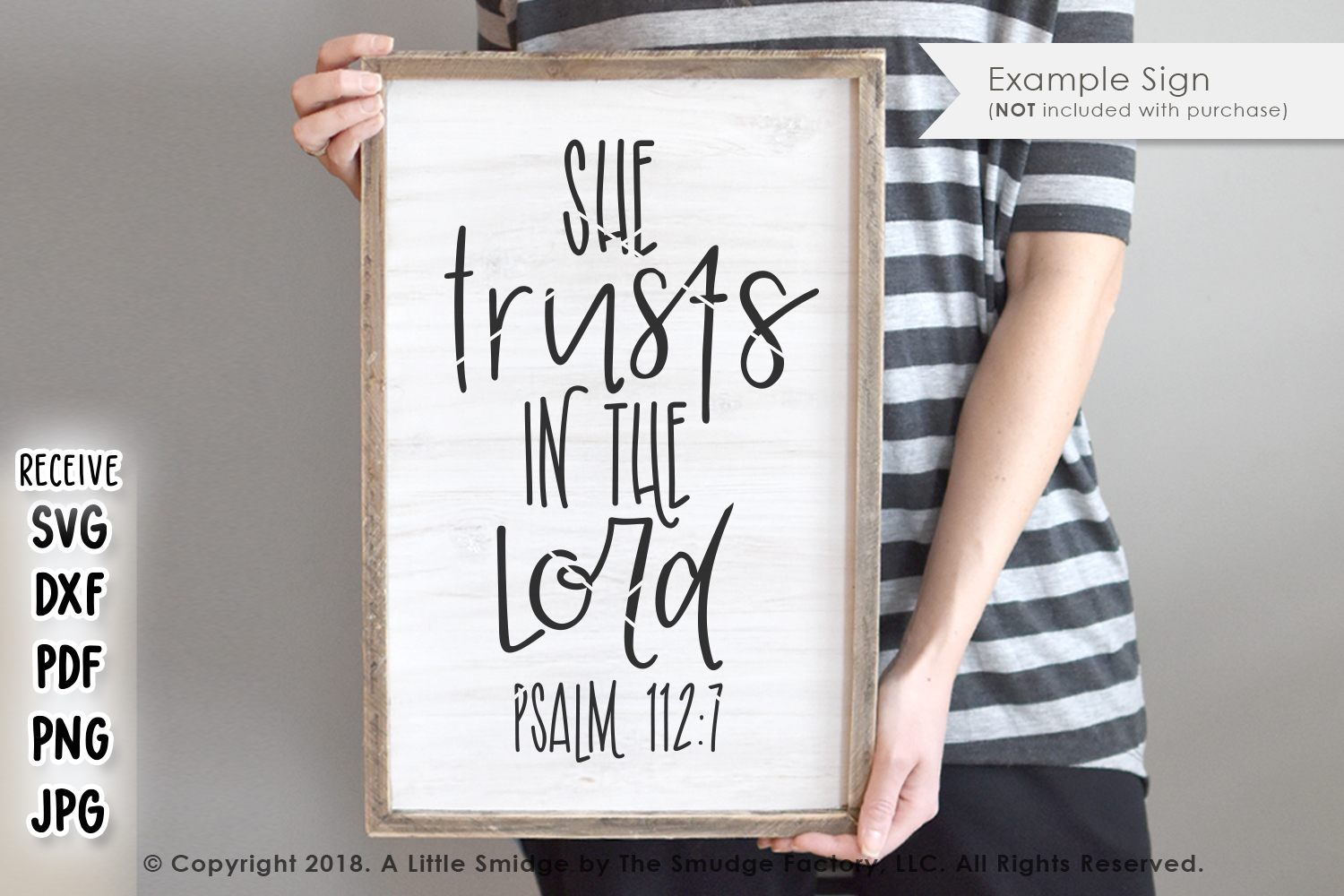 She Trusts In The Lord SVG example image 2