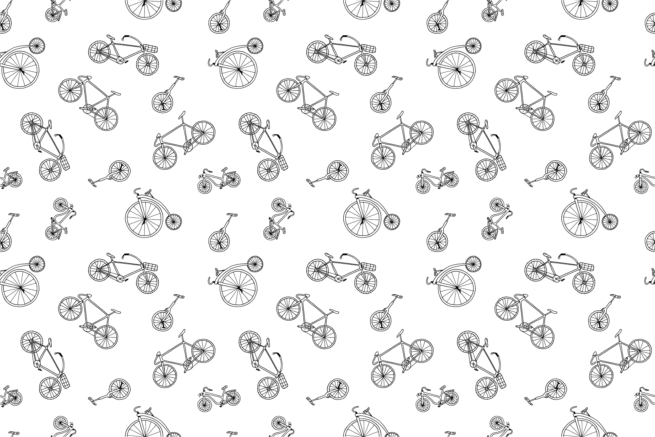 Bicycle collection in doodle style example image 3