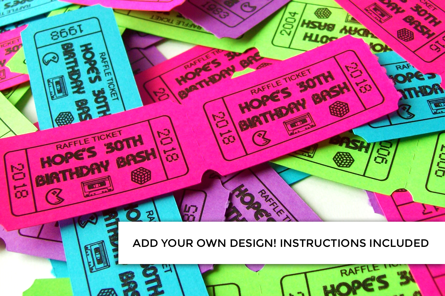 Perforated Blank Ticket Strip & Print and Cut Tickets SVG example image 3