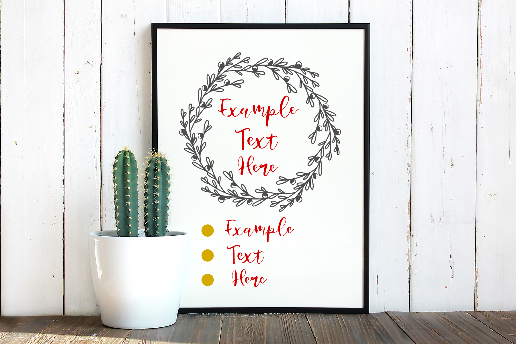 Wreath svg, simple cherry, instant download, cut file example image 2