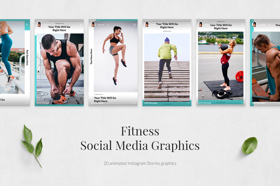 Fitness Animated Instagram Stories example image 2