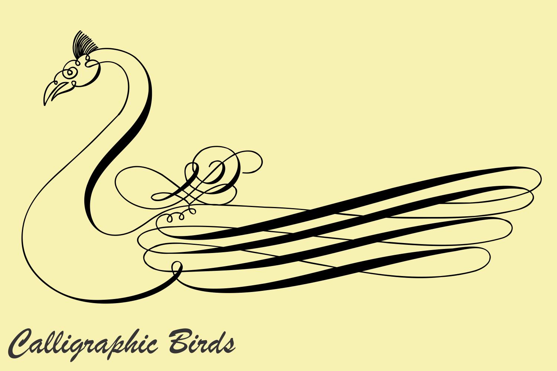 Calligraphic Birds example image 2