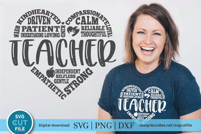Teacher Subway Art - a Teacher appreciation SVG & DXF file example image 1