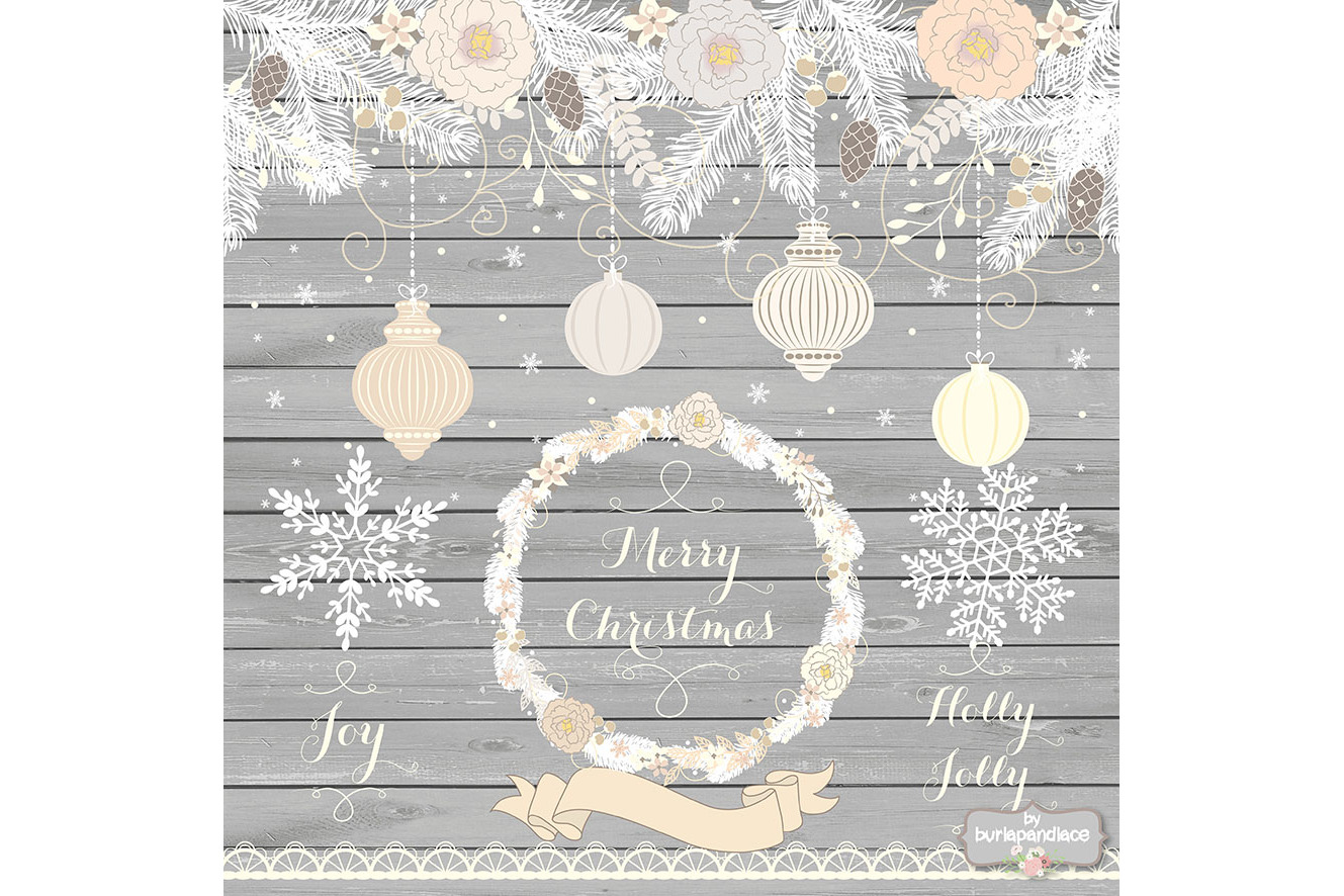 Vintage rustic floral christmas design example image 4