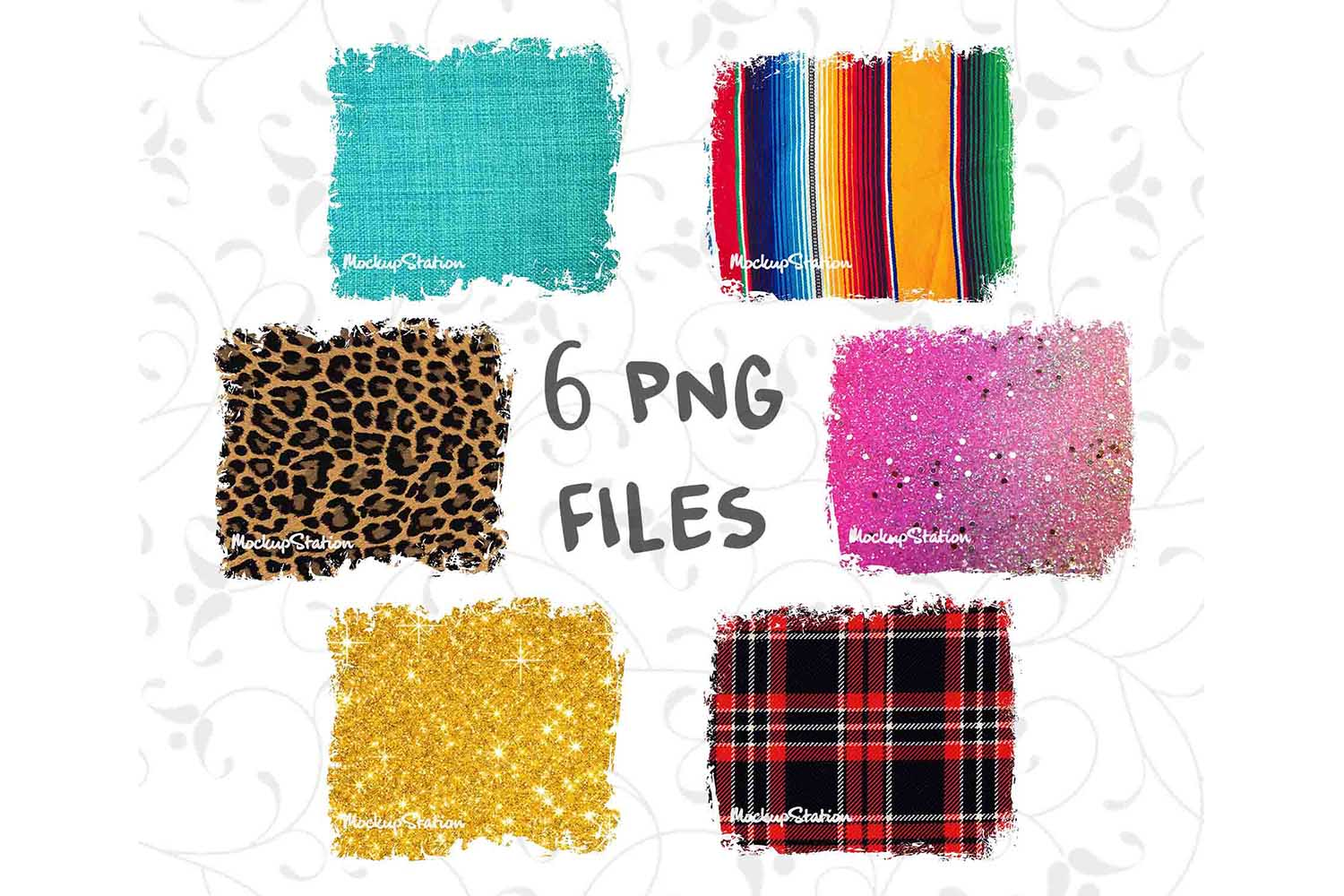 Sublimation Background Designs PNG Bundle, Frame Clip Art example image 1