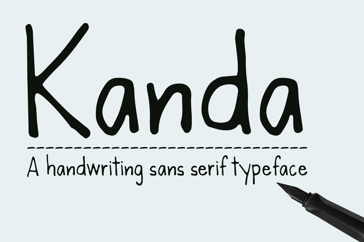 Kanda Handwriting Typeface example image 1