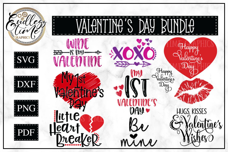 Valentine's Day Bundle - 10 Valentine SVG Cut Files example image 1
