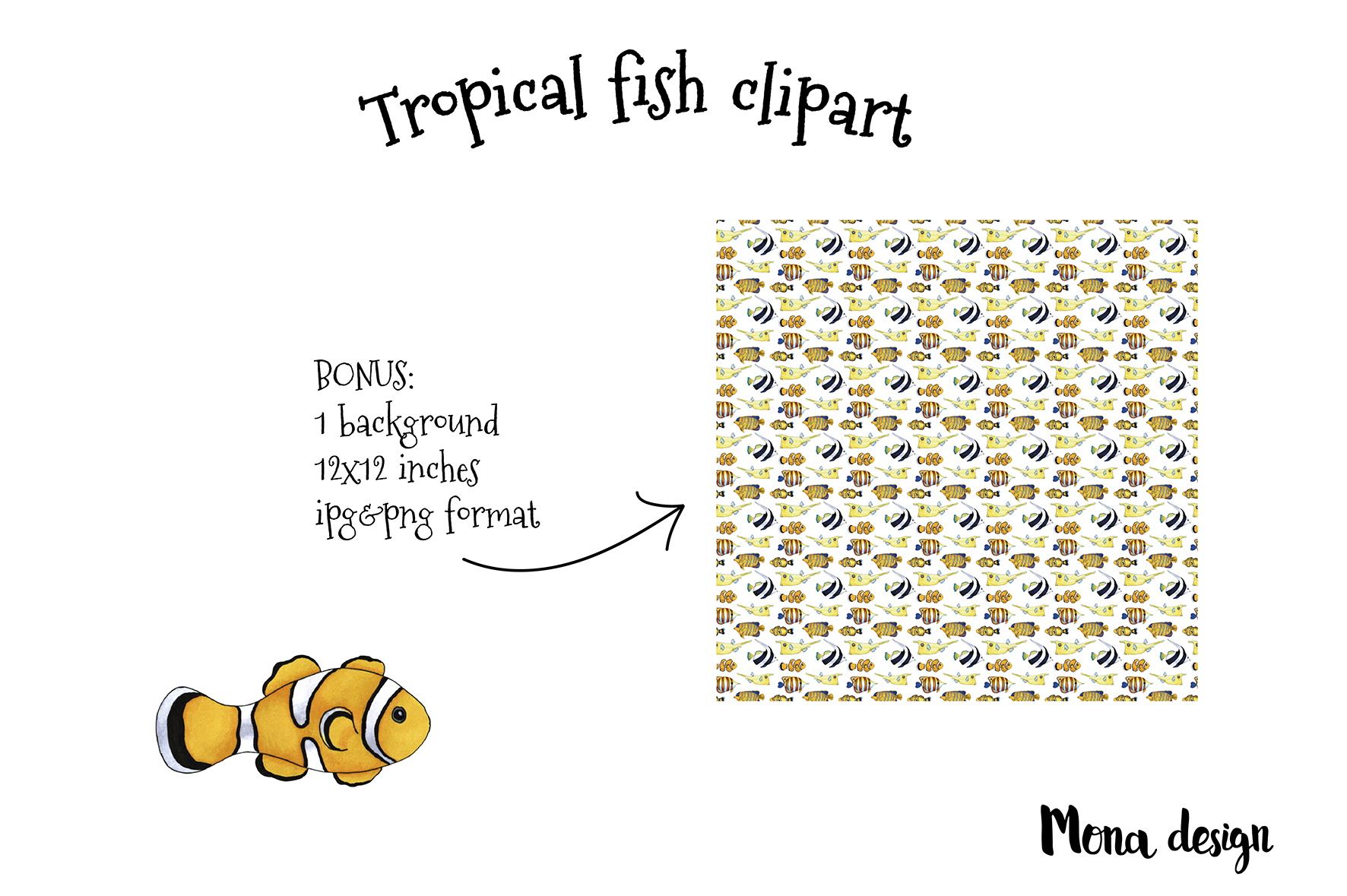 Tropical fish set example image 3