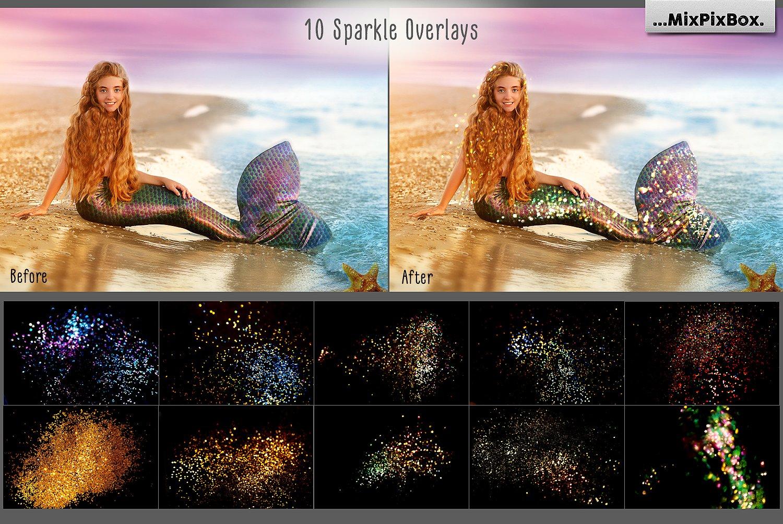 35 Mermaid Tail Overlays example image 6