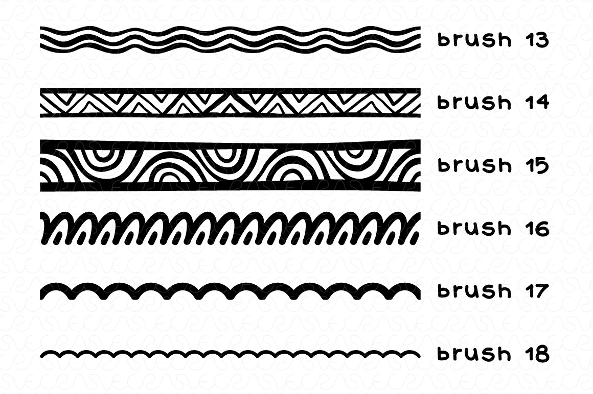 Vector Brushes - Handmade Tribal Style Graphics example image 4