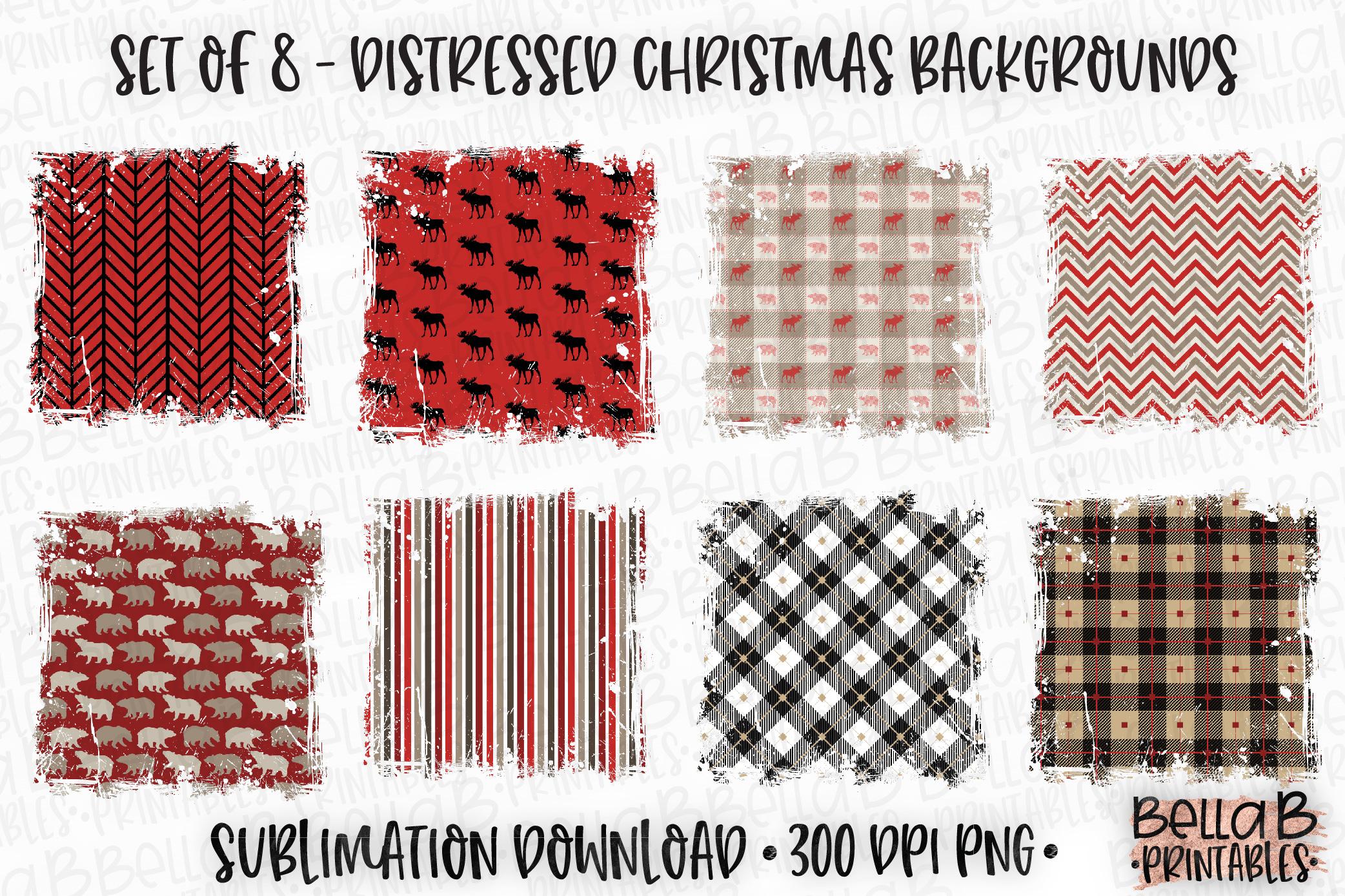 Christmas Sublimation Background Bundle, Christmas Frames example image 1