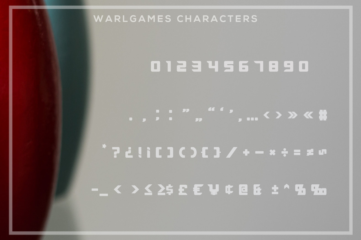 WarlGames Font example image 6