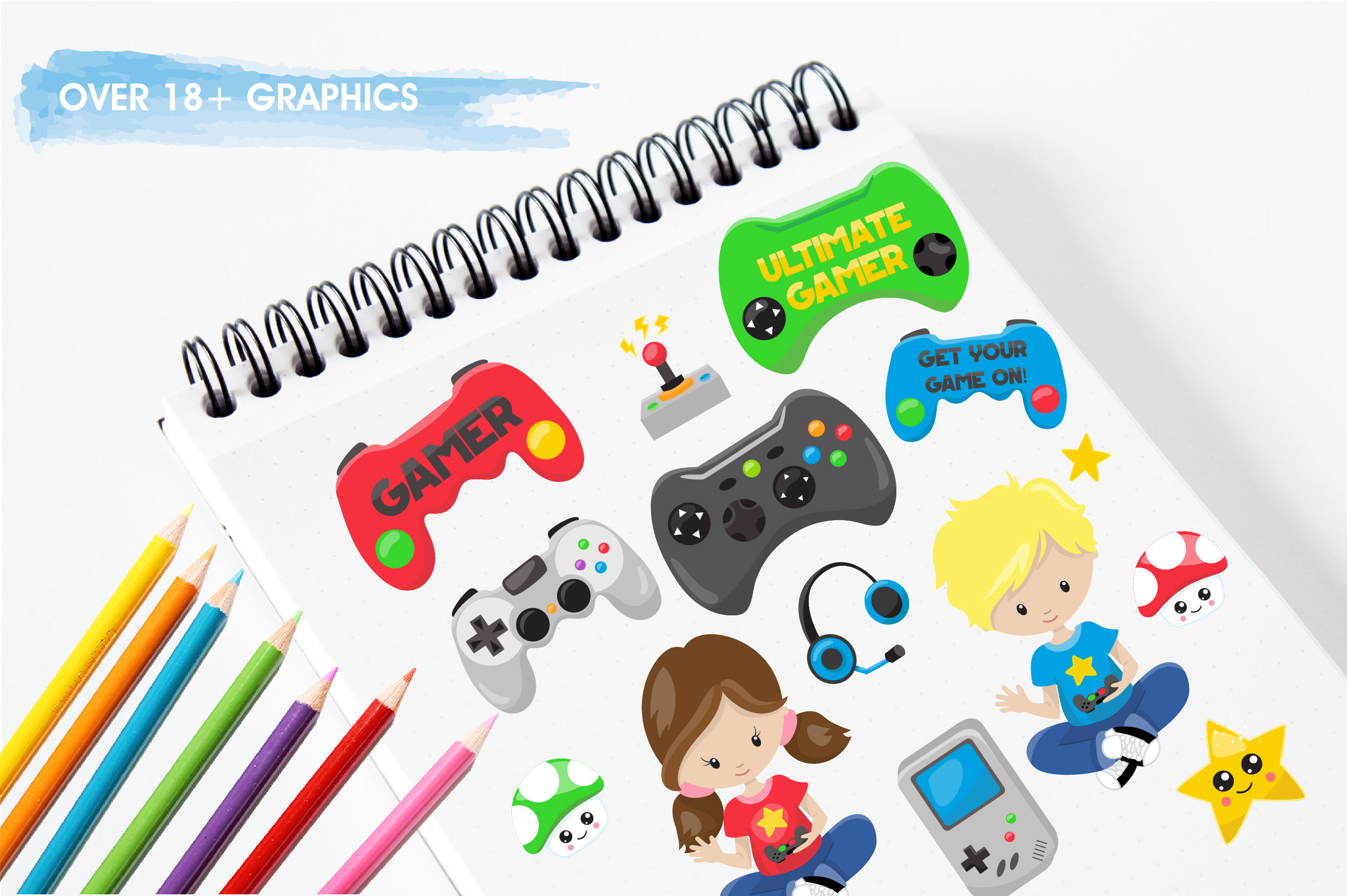 Game kids graphics and illustrations example image 4