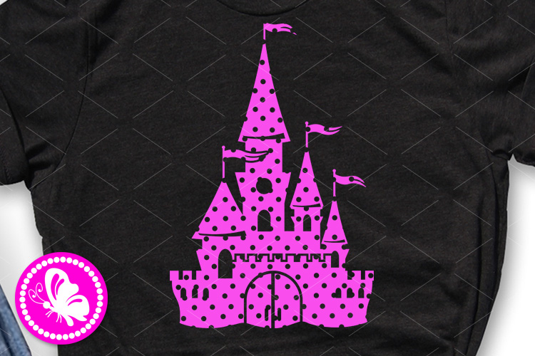 Magic palace svg Princess castle with dots Cricut png dxf example image 1