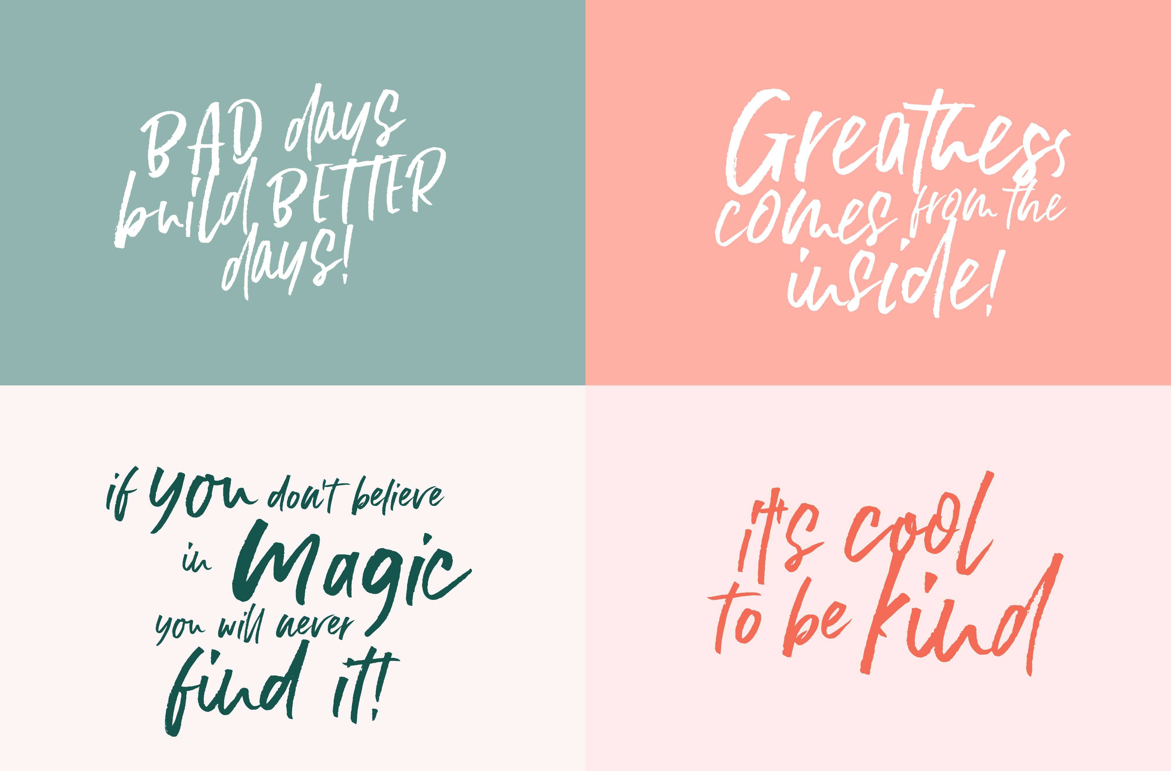 Stay Humble Font Family + Extras example image 5