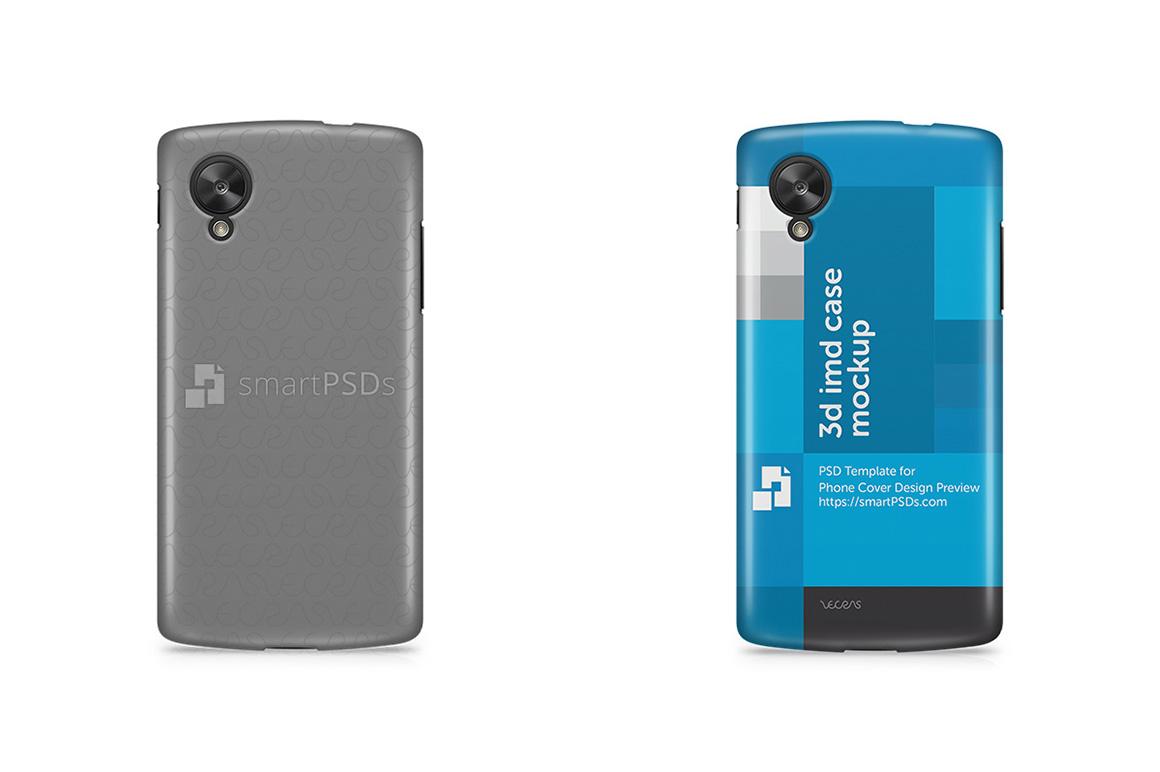 Google Nexus 5 3d IMD Mobile Case Design Mockup 2013 example image 1