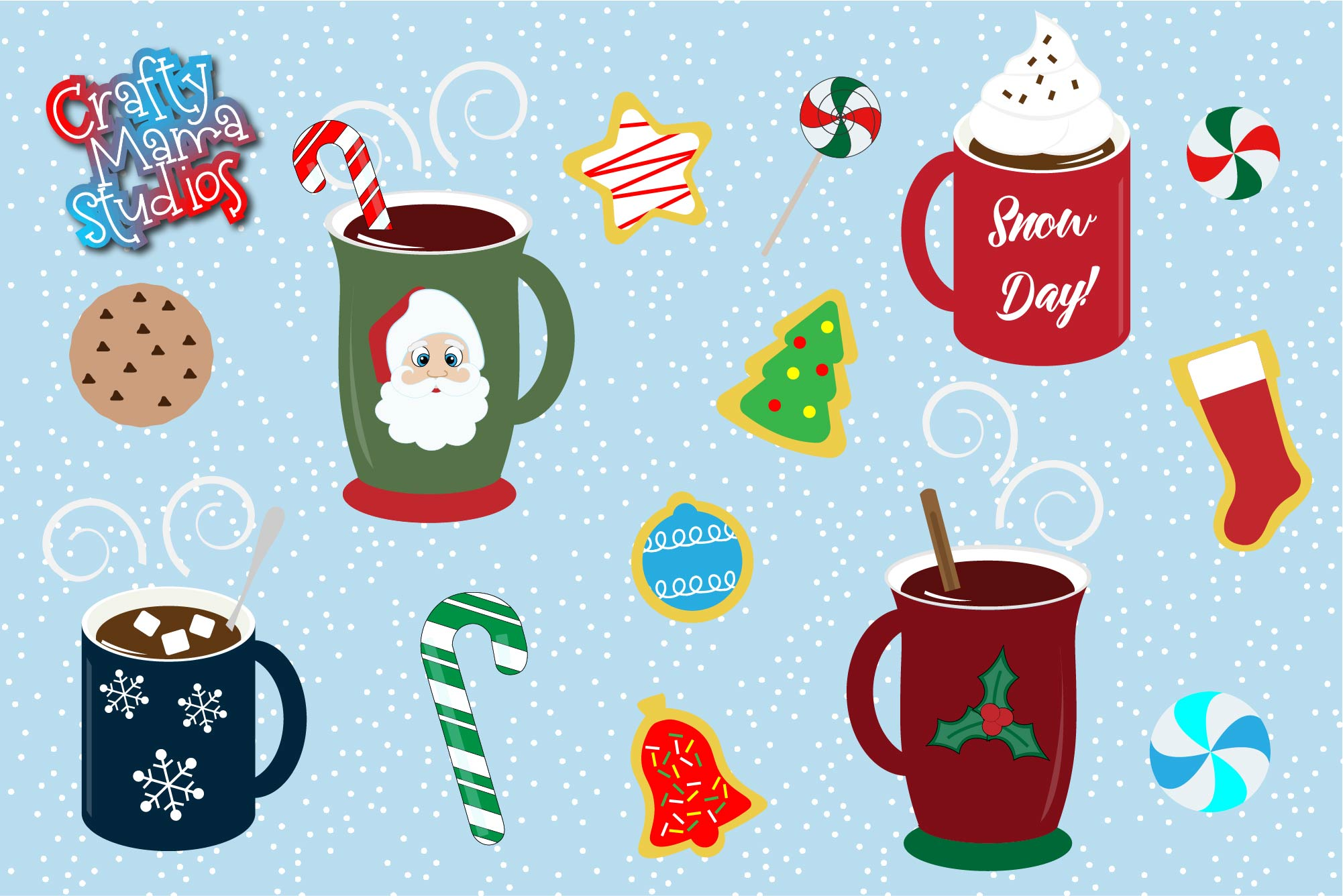 Hot Cocoa Bundle SVG, Sublimation, Cookies SVG, Snow Day example image 2
