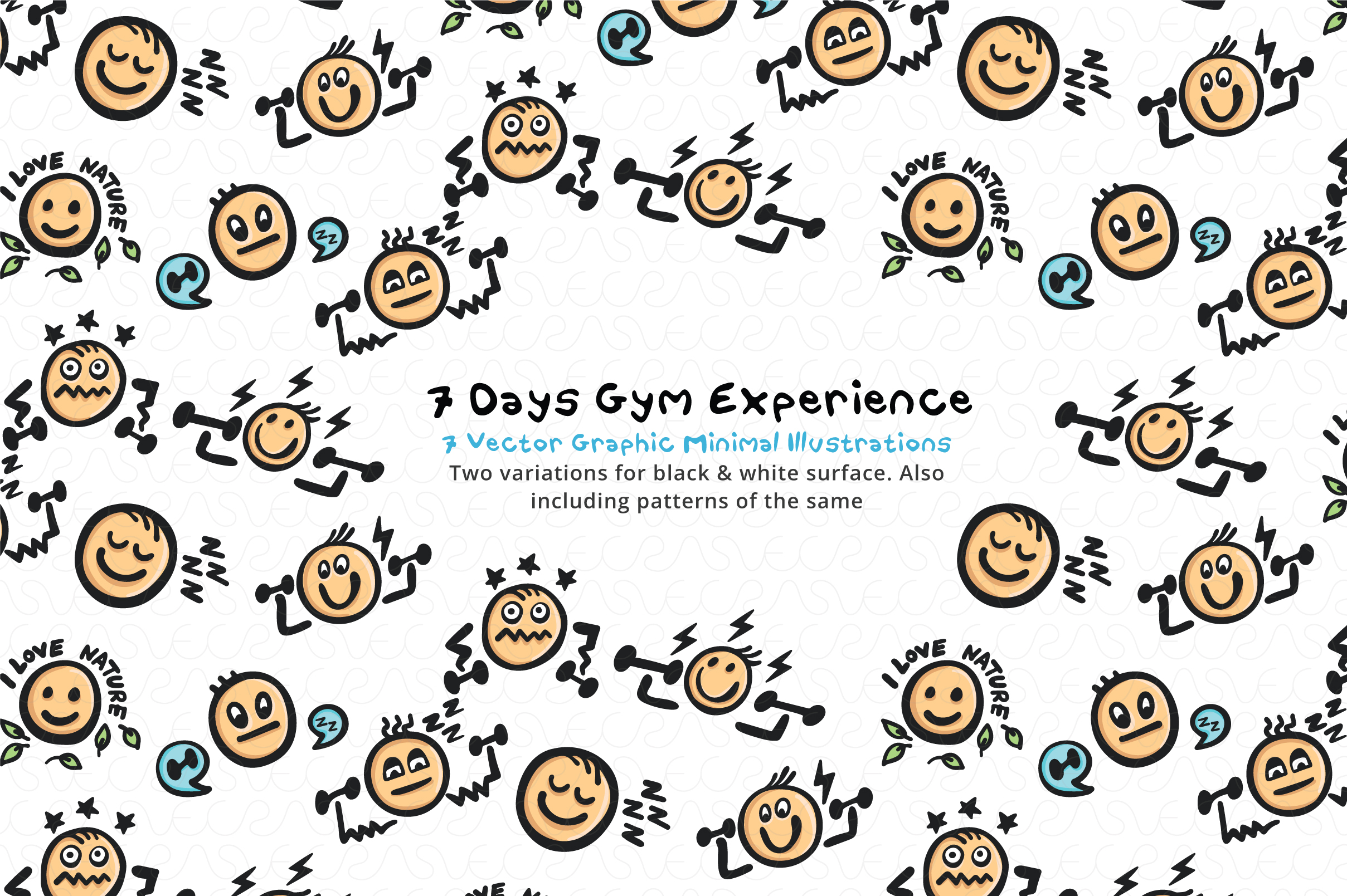 7 Days Gym Begginner Level / Graphics Pack example image 4