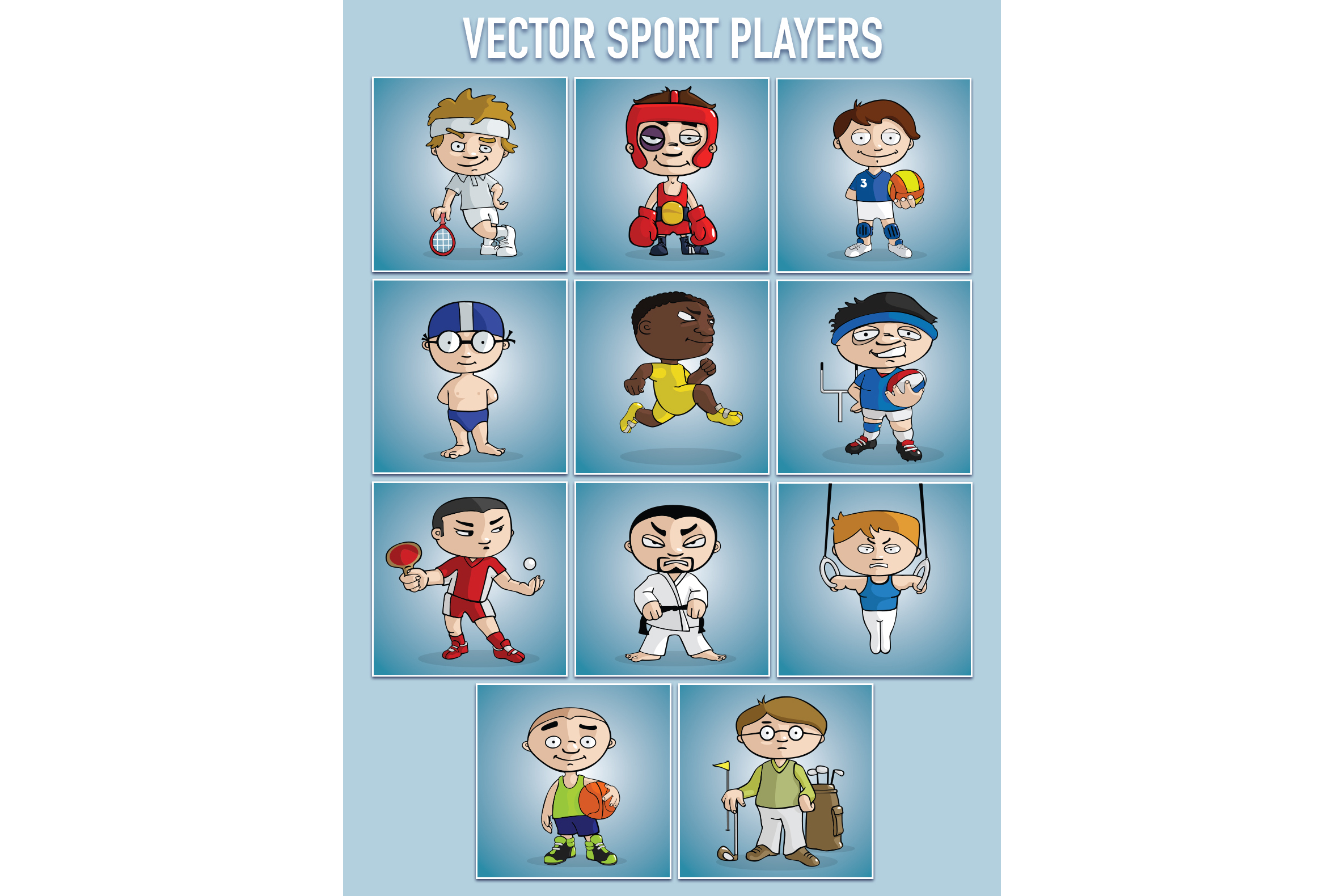 VECTOR sport players example image 2