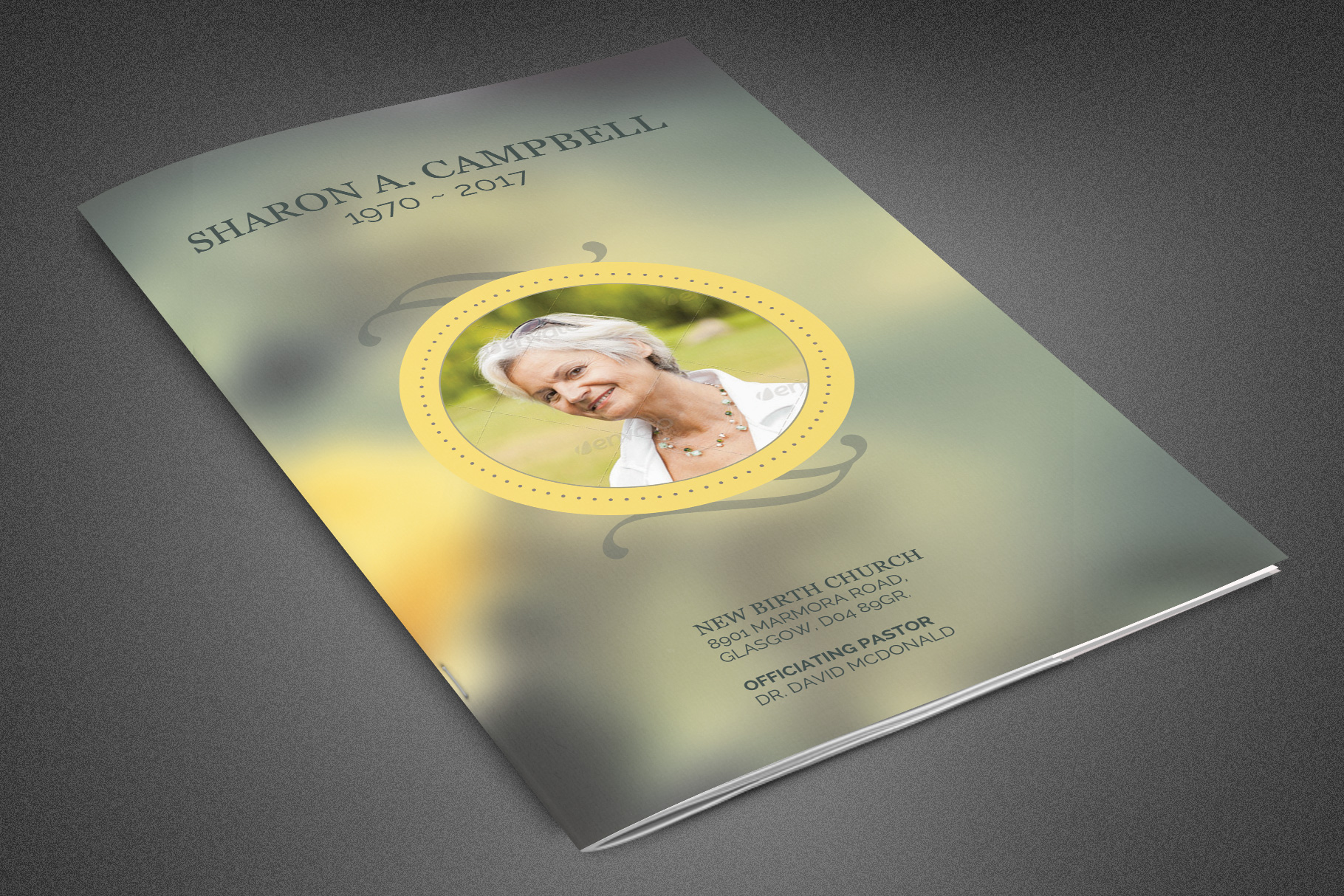 Refresh Funeral Program Template example image 1
