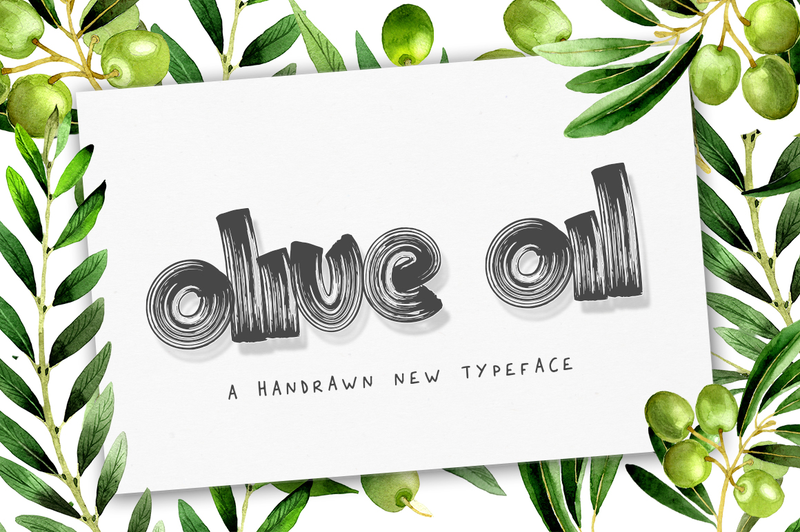 Olive Oil Font example image 1