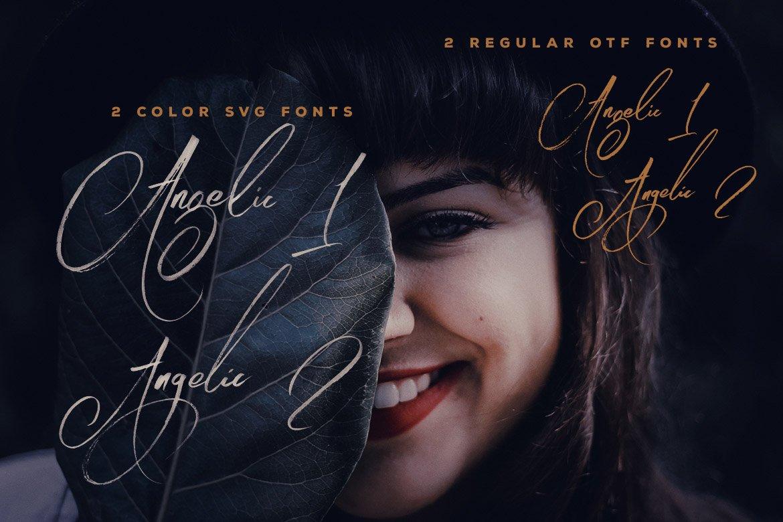 Angelic Brush & SVG Font example image 2