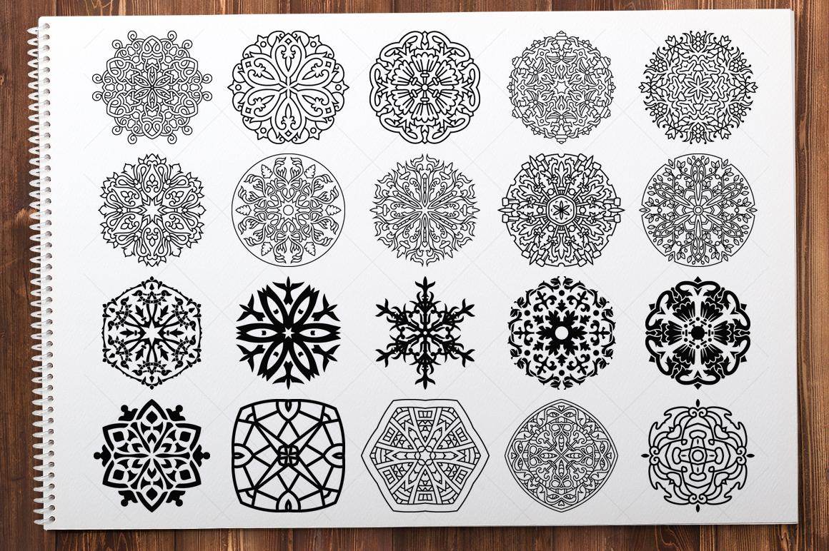 500 Vector Mandala Ornaments example image 11