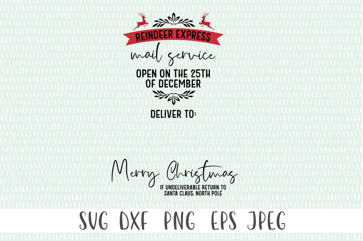 Santa Bag SVG - Reindeer Express Mail Service example image 2