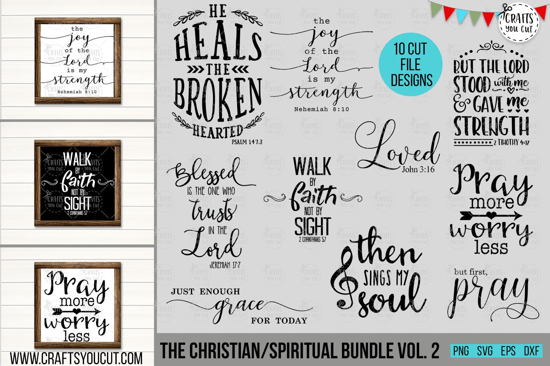 Christian/Spiritual Bundle Vol. 2- An SVG Cut File Bundle example image 1