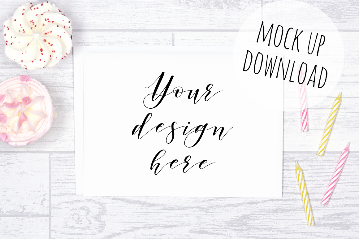 Pretty Card or Invite Mock Up Bundle example image 3