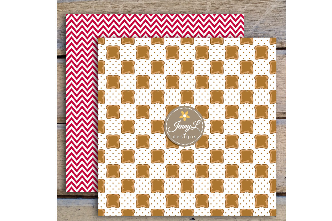 Peanut Butter and Jelly Digital Papers and Jam Clipart example image 4