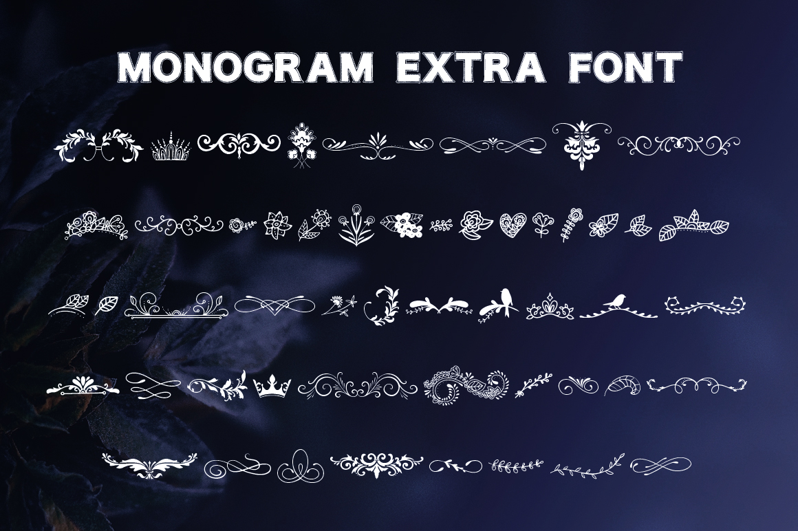 Monogram. 5 elegant fonts. example image 7