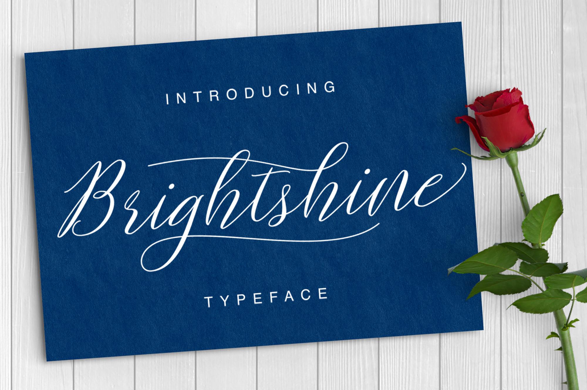 Brightshine Typeface example image 1