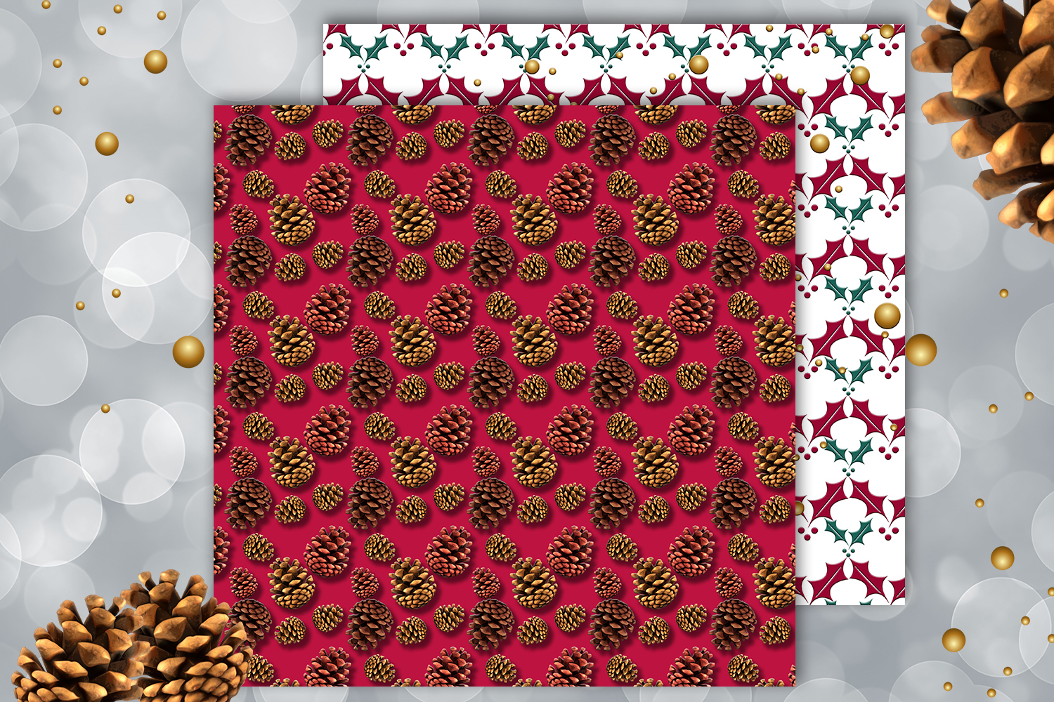 Christmas papers, jingle all the way, Scrapbook,BLACK FRIDAY example image 3